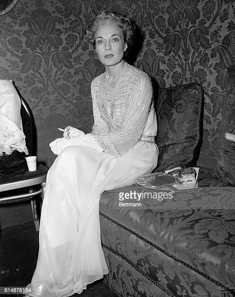 12/2/1940New York NY Mrs Harrison Williams one of Society's best dressed women is shown in her box at the Metropolitan Opera here at the opening...