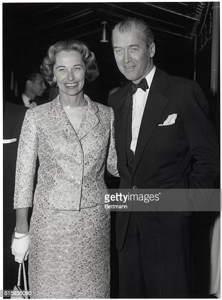Mr and Mrs James Stewart at the premiere of 'Around the World in 80 Days' The couple are dressed formally