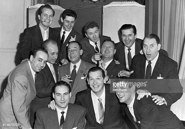 12/4/1953New York New York What with 11 other comedians helping to celebrate his fourth coming marriage Milton Berle must have had a hectic evening...