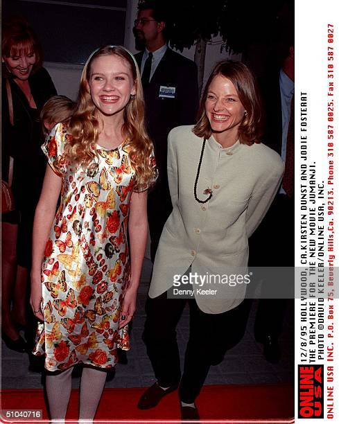 Westwood Ca Jodie Wilson And Kirsten Dunst At The Premiere Of His New Movie 'Jumanji'