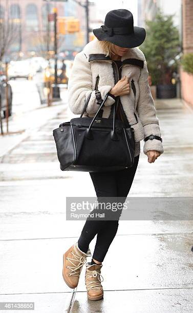 Actress Sienna Miller is seen walking in Soho on January 12 2015 in New York City