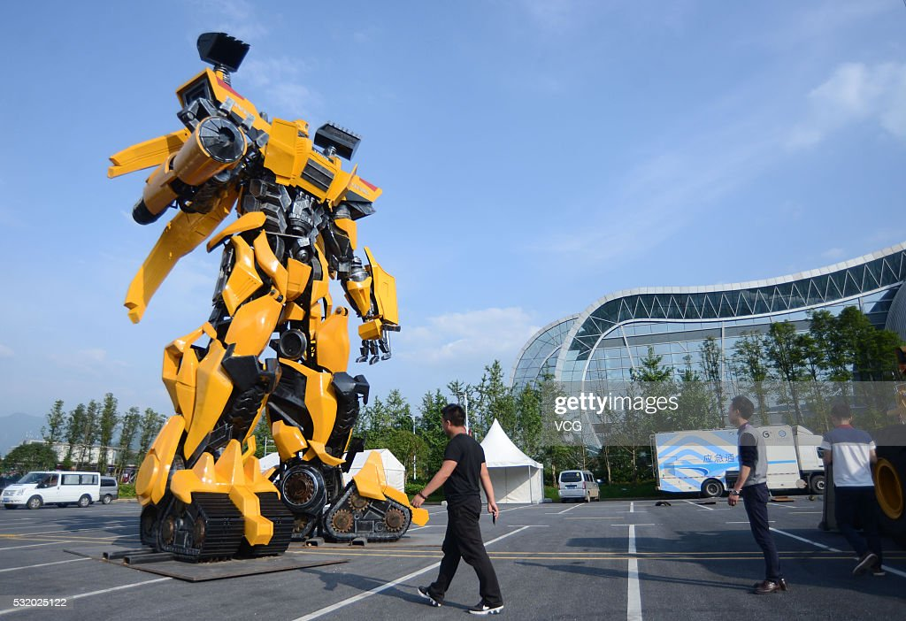 Expo Exhibition Stands Tall : Meter tall transformer made in chenzhou getty images