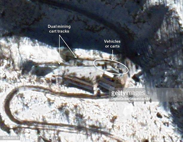 Figure 1B Dual mining cart tracks established at new tunnel site Date December 12 2015