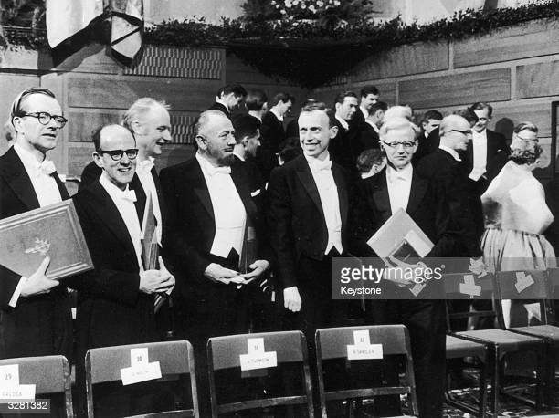 James Watson and Francis Crick are amongst the winners receiving their Nobel Prizes in Stockholm Professor Maurice Williams Dr Max Perutz Dr Francis...