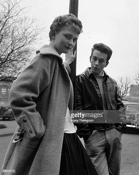 Two Welwyn Garden City teenagers Alan Moore and Anne Thompson