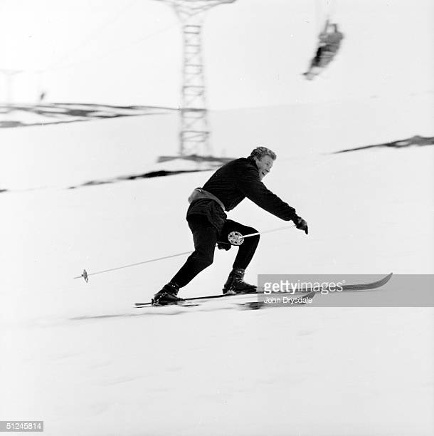 12th February 1962 An expert skier enjoying the 4000 resort at Aviemore in the Cairngorm Mountains Aviemore is the most developed ski resort in...