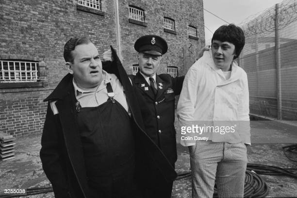 Ronnie Barker Richard Beckinsale and Fulton MacKay as they appeared in the popular BBC television series 'Porridge' and in the subsequent big screen...