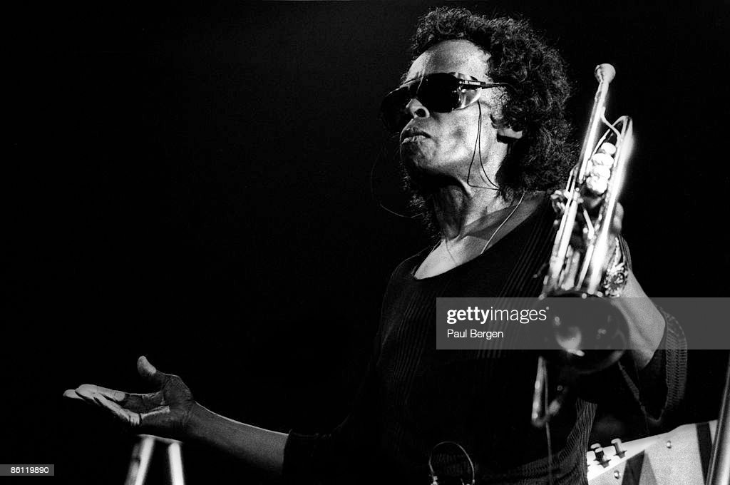 American jazz musician and composer Miles Davis (1926-1991) performs live on stage at the North Sea Jazz Festival in The Hague, Netherlands on 12th July 1991.