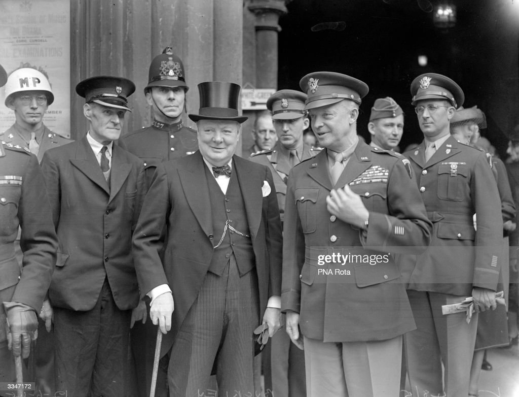 General Dwight D Eisenhower (1890 - 1969), commander of the Allied ...