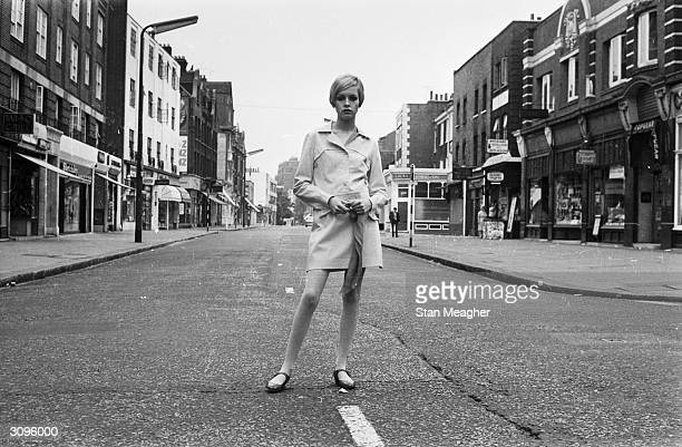 English fashion model and sixties icon Twiggy in the King's Road London