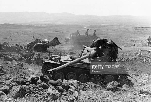 Syrian tanks captured by Israeli advance during the Six Day War in the Middle East