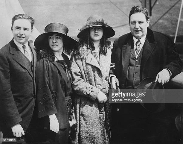 Irish born American Tenor John McCormack with his wife and two children Gwendolyn and Cyril on a ship bound for Ireland