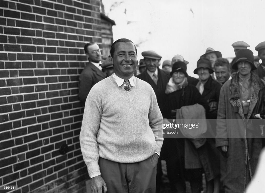 US golfer Walter Hagen smiles broadly after winning the Open Golf Championship at Sandwich