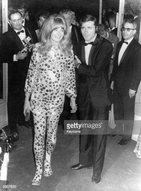 English actress Vanessa Redgrave with Italian actor Franco Nero at the premiere of her latest film 'Blow Up' at the Cannes Film Festival