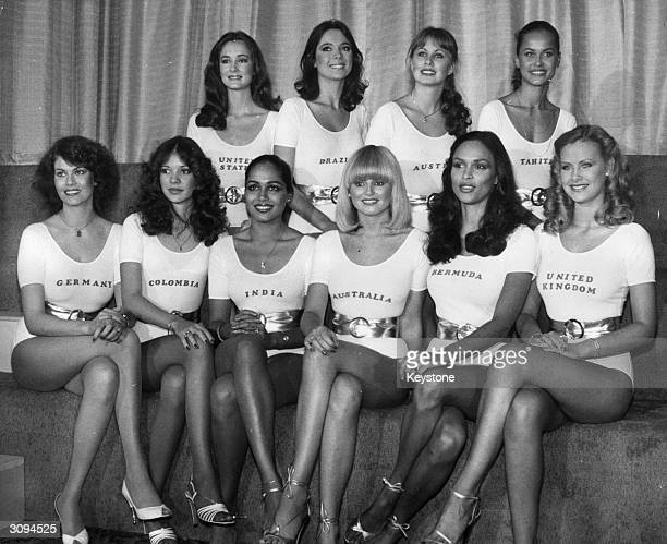 The ten finalists who will compete for the title of Miss World 1979 at the Royal Albert Hall in London From left to right they are Carter Wilson Lea...