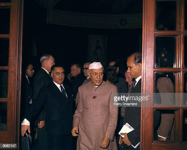 Indian Prime Minister Jawaharlal Nehru at India House London