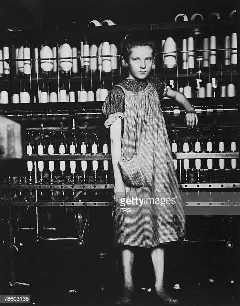 12yearold Addie Laird works at a cotton mill in Vermont 9th February 1910