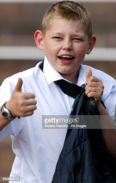 12yearold Phillip Barrowcliff leaves Norwich Crown Court where he was convicted of assault but cleared of the murder of 44yearold Jason Mantoyah from...