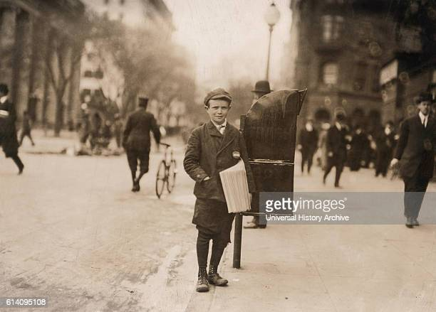 12yearold Truant Boy Skipping School to Sell Newspapers often until 2am Washington DC USA circa 1912
