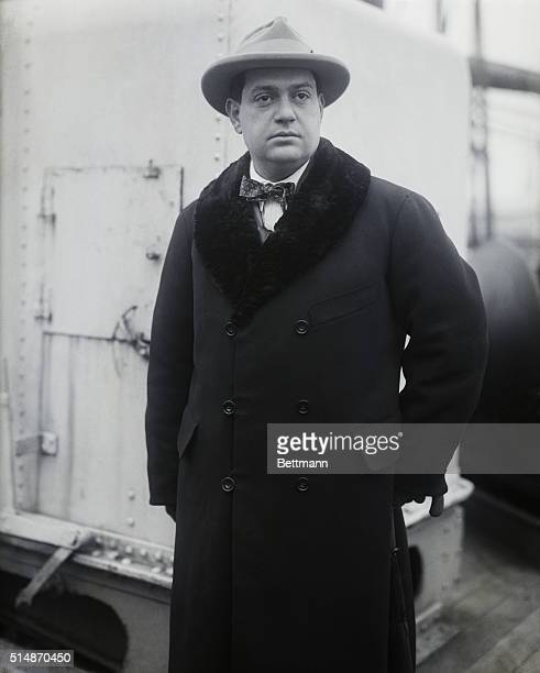 Darius Milhaud noted composer arrival in New York to conduct a concert of French music with the Philadelphia Symphony Ochestra