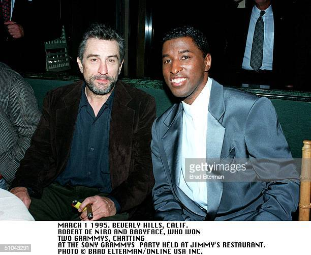 Beverly Hills Robert De Niro And Babyface At The Sony Party At Jimmys Restaurant