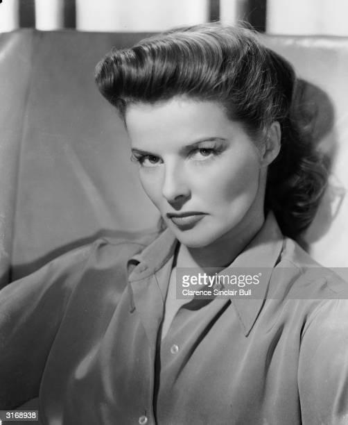 American actress Katharine Hepburn looking slightly sulky