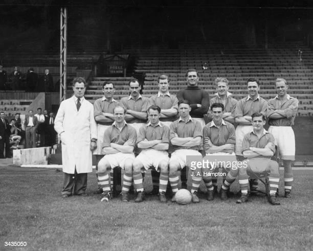 Charlton Athletic Football Club team Front row J Trotter G Hurst T Lumley C Vaughan J Evans and W Kiernan Back row B Fenton J Campbell J Walls A...