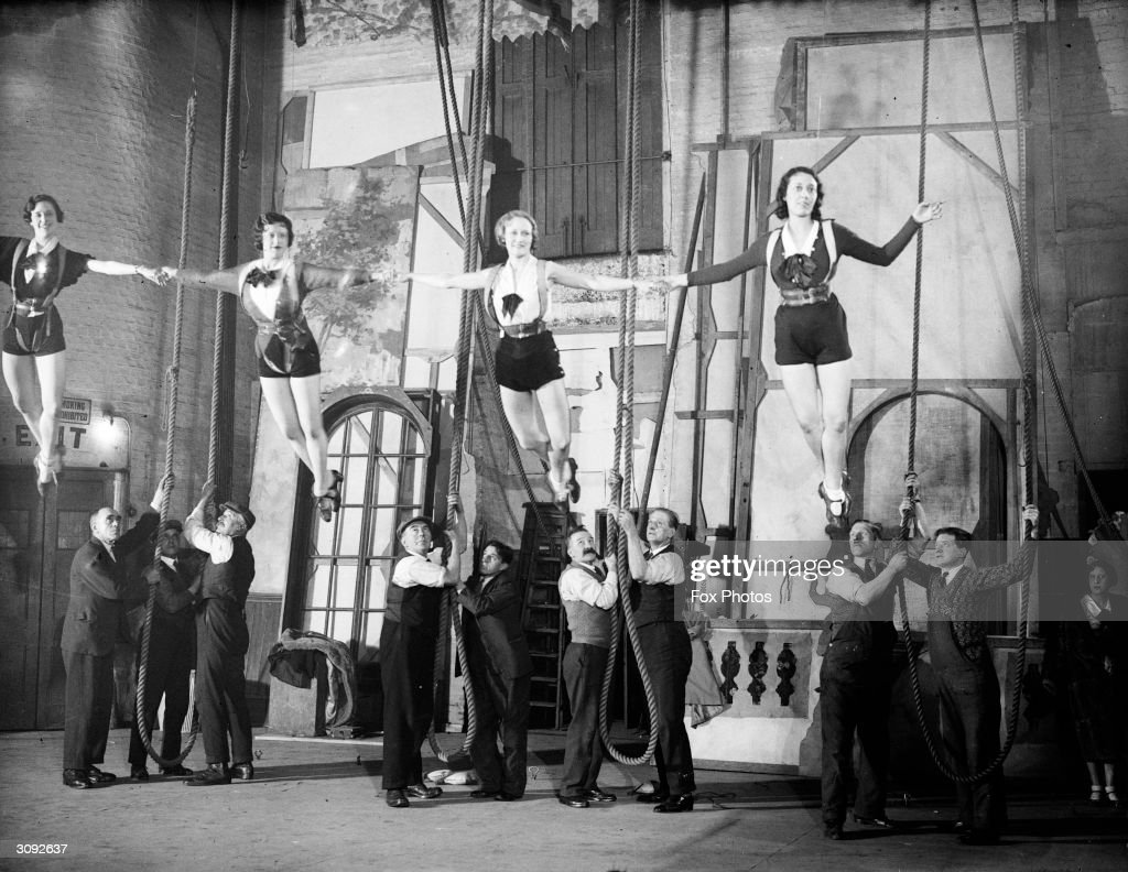 13th december 1932 four of dalys chorus girls are hoisted aloft on picture id3092637?s=612x612 fox and goose stock photos and pictures getty images  at n-0.co