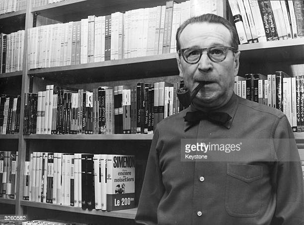 Author Geoges Simenon anticipates his 70th birthday at his villa in Epalinges Switzerland with the announcement that after it he wishes never to...