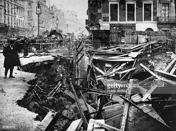 A gas main explosion in Piccadilly London close to Fortnum Masons An onlooker reviews the damage