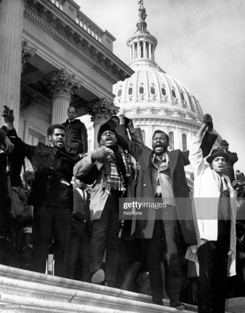 Supporters of Adam Clayton Powell the Harlem congressman who was denied his seat in the House of Representatives demonstrate on the House of...