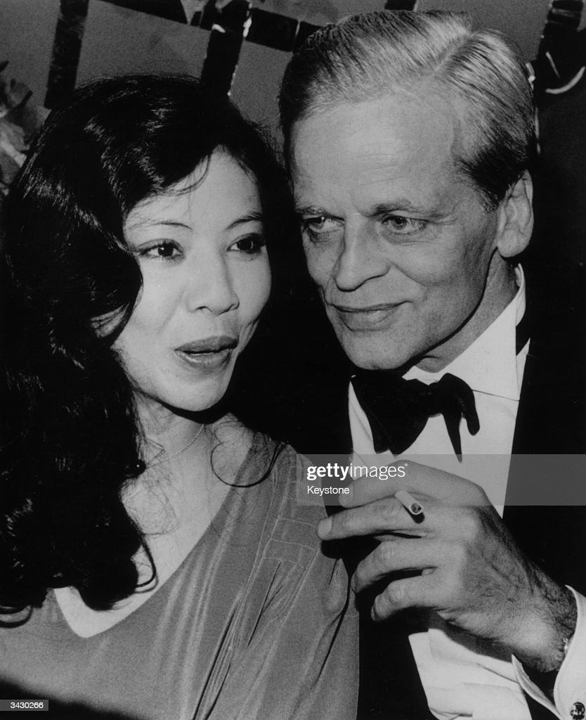 German actor, Klaus Kinski, with his wife, Min Hoi, at the German Film Ball in Munich.