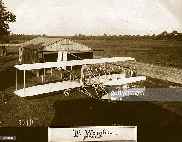 The Wright Flyer II biplane on wheels Aeroplane Album Vol 2 Page 51
