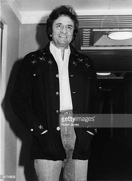 Rock 'n' roll and country music icon Johnny Cash in London