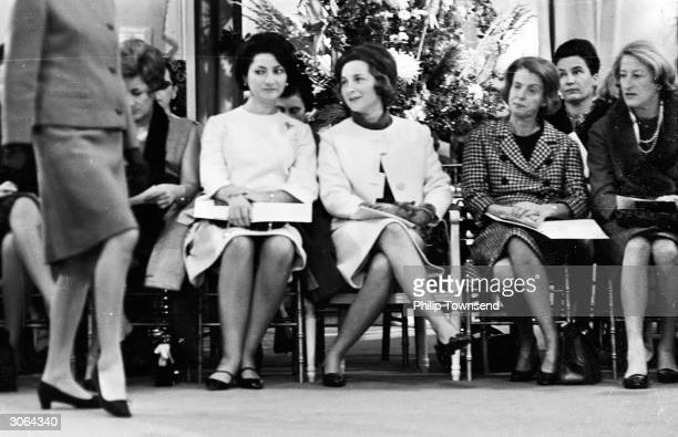 Potential customers at a Dior fashion show