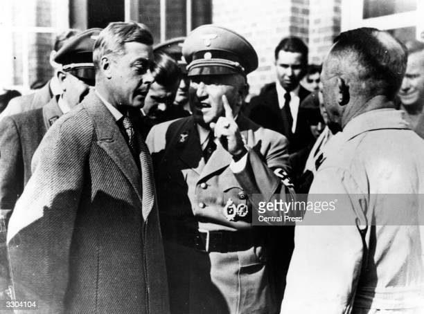 The Duke of Windsor with Nazi officers during his trip to Germany