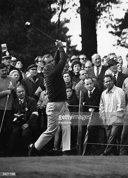 Arnold Palmer in the semifinal of the Piccadilly World Match Play at Wentworth Surrey