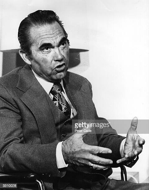 Governor George Wallace of Alabama during a visit to London He was paralysed from the waist down as a result of being shot in 1972 Wallace ran as an...