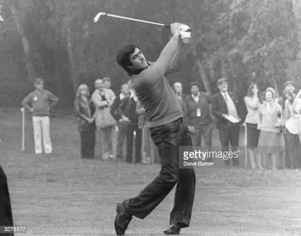 Severiano Ballesteros Spanish golfer playing at Wentworth in the World Match Play Championships