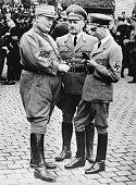 German Nazi leaders Hermann Goering Julius Streicher and Joseph Goebbels at a memorial service for the German war dead at Nuremberg