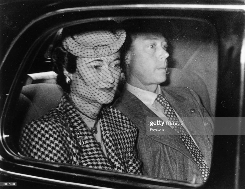 The Duke and Duchess of Windsor arriving at the country home of Major Edward Dudley Metcalfe in Coleman's Hatch, Sussex, their first visit to England in three years.