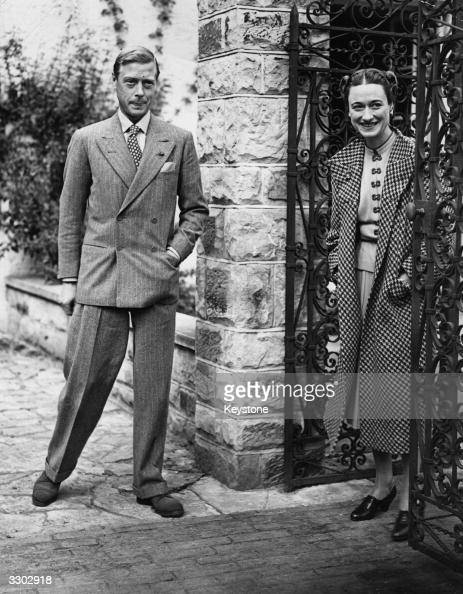 The Duke and Duchess of Windsor in England after an absence of nearly three years at Major Edward Dudley Metcalfe's country house Coleman's Hatch...