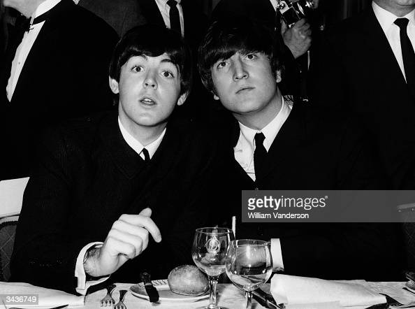 Beatles Paul McCartney and John Lennon at the Variety Club Showbusiness Awards held at the Dorchester London