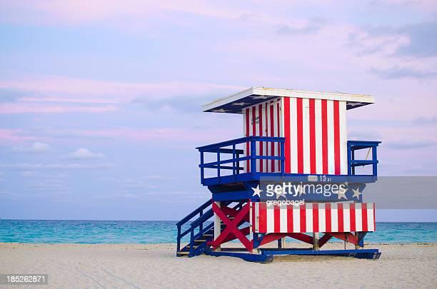 13th Street lifeguard hut in Miami Beach, FL