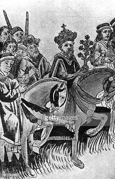 1368 1437Deutscher Kaiser 1410 1437Markgraf von BrandenburgKönig von UngarnKaiser Sigismunds Umzug mit der ihmvom Papst in Konstanz geweihtengoldenen...