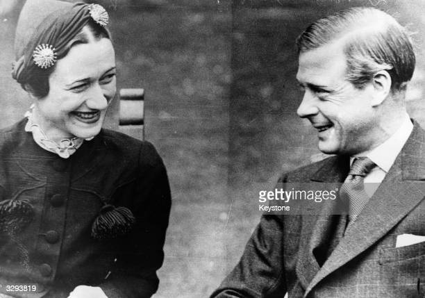 The Duchess of Windsor as Mrs Wallis Warfield Simpson and the Duke of Windsor at the Chateau de Conde near Tours shortly before their wedding The...