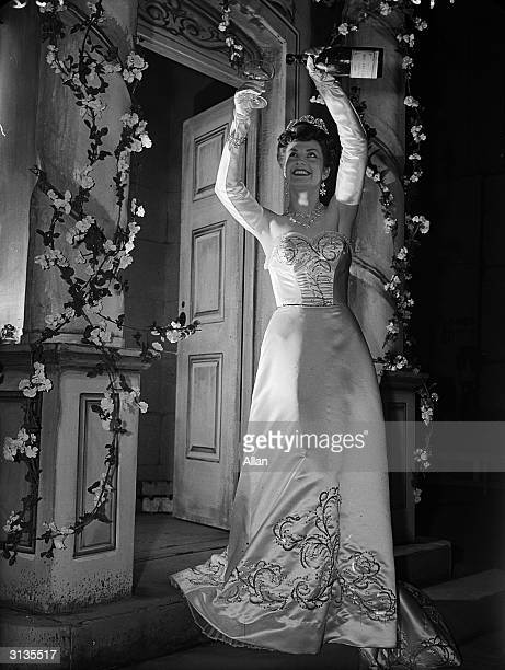 Actress Margaret Mitchell celebrating in style