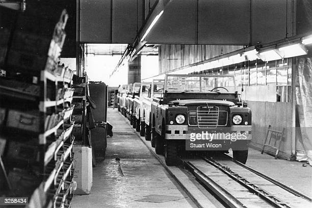 The Land Rover production line at Solihull in Birmingham at a standstill following a strike by the TSGWU over British Leyland's proposed cuts