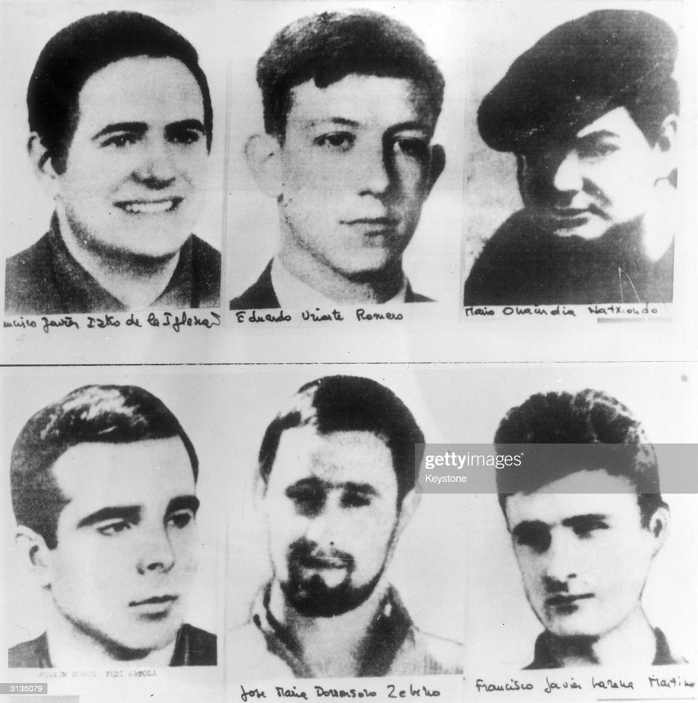 Six members of the Basque terrorist group ETA who are facing trial in Burgos