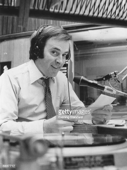 Irish broadcaster Terry Wogan working as a disc jockey